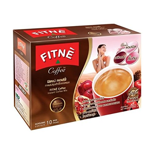 Fitne Instant Coffee Slim Mix Diet Fast Weight Loss Mix Apple Mix Flavour,10x16g Box ( by jofalo ) Hot Items