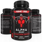 Alpha Boost Testosterone Booster for Strength and Energy, Over The Counter Male Enhancement Pills that Build Muscle Fast, Boost Libido and Burn Fat