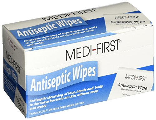Medique Products 21471 Antiseptic Wipes, 20 Per Box