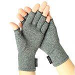 Arthritis Gloves by Vive – Compression Gloves for Rheumatoid & Osteoarthritis – Hand Gloves Provide Arthritic Joint Pain Symptom Relief – Men & Women – Open Finger (Medium)