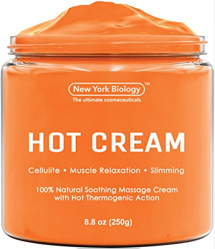 Cellulite Cream & Deep Muscle Relaxation Cream - Huge 8.8 oz - 100% Natural Ingredients - Anti Cellulite Treatment Skin Toning & Firming Cream - Muscle Cream, Muscle Relaxer, Hot Cream