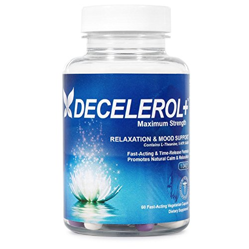 Decelerol+ Natural Anxiety Relief Supplement 60 Capsules
