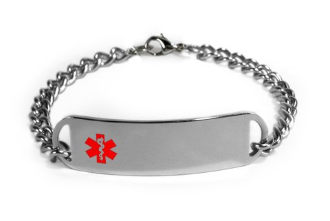 TAKING PREDNISONE Medical ID Alert Bracelet with Embossed emblem from stainless steel. D-Style, premium series.