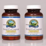 Nature's Sunshine Stomach Comfort Herbal and Mineral Dietary Supplement 60 chewable Tablets each (Pack of 2)