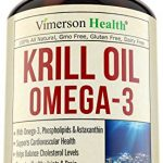 Krill Oil with Omega 3 (EPA & DHA), Astaxanthin & Phospholipids. All Natural Supplement by Vimerson Health. Supports Cardiovascular Health, Helps Balance Cholesterol, Promotes Healthy Joints & Brain