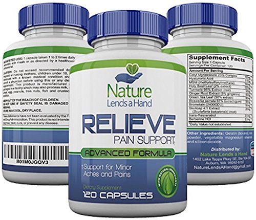 RELIEVE, Natural Pain Reliever, 120 Capsules PLUS FREE BONUS, Fast Pain Relief with Turmeric, Ginger, Boswellia Complex, Bromelain and more!