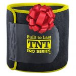 TNT Pro Series Waist Trimmer Weight Loss Ab Belt – Premium Stomach Wrap and Waist Trainer, 9″ W x 34″ L, Small