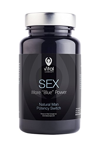 SEX - Stamina and Aphrodisiac Pill, Fighting Low Libido. Helps with Men Erectile Dysfunction or Impotence. Tablets to Control Premature Ejaculation. 60 Veggie Capsules, GMO and Gluten Free
