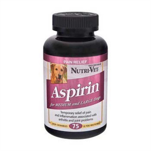 Nutri-Vet® K-9 Aspirin 300mg Chewables for Medium and Large Dogs - 75 count