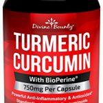 Turmeric Curcumin with BioPerine Black Pepper Extract – 750mg per Capsule, 120 Veg. Capsules – GMO Free Tumeric, Standardized to 95% Curcuminoids for Maximum Potency