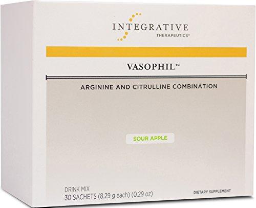 Integrative Therapeutics - Vasophil Drink Mix - Arginine and Citrulline Combination - NSF Certified for Sport - Sour Apple Flavor - 30 Sachets