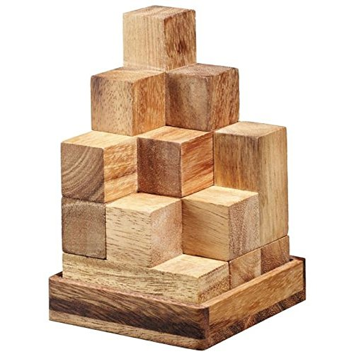 BRAIN GAMES Soma Cube Wooden Puzzle 1.9 Inches