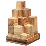 BRAIN GAMES Soma Cube Wooden Puzzle 2.9 Inches