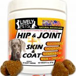 Premium Hip and Joint Soft Chews + Skin and Coat Supplement Glucosamine Chondroitin for Dogs MSM Omega 3 Dog Treat for Arthritis Hip Dysplasia Pain Medicine for Dogs Hip Joint Supplements for Joints