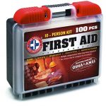 Be Smart Get Prepared 100 Piece First Aid Kit, Exceeds OSHA ANSI Standards for 10 People – Office, Home, Car, School, Emergency, Survival, Camping, Hunting, and Sports