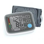 Red Medical Digital Blood Pressure Monitor Arm Automatic Blood Pressure Cuff Machine with One Size Fits All Cuff, Easy to Read and Calculation Accuracy – FDA Approved