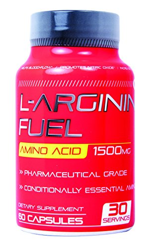 N.1 L-arginine Fuel Extra Strength L Arginine - 1500mg Nitric Oxide Booster for Muscle Growth, Libido, Vascularity & Energy | Cardio Heart Supplement Essential Amino Acids To Train Longer & Harder