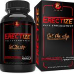 Erectize Male Enhancement, Extreme Testosterone Booster, Inrcrease Libido, Stamina, Size, Staying Power, 60 capsules