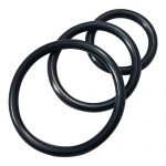 Nitrile Cock Rings Male Erection Enhancement Stay Hard Set of 3 Cock rings (Black) Discreet Packaging