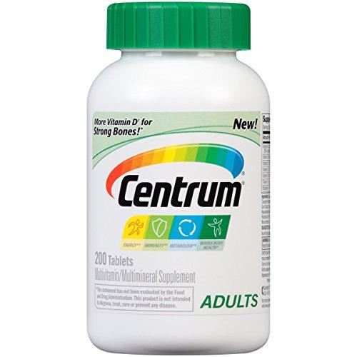 Centrum Adult Multivitamin / Multimineral Supplement Tablet, Vitamin D3 (200 Count)