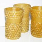 Set of 3 handmade bee wax cups, drinkablel, natural, 100% organic bees wax (Wax)