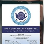 Sleep Tea Aid for Insomnia – Day Is Done Relaxing Blend – Organic Caffeine Free Loose Leaf Herbal Tea- Chamomile Valerian Raspberry Cinnamon & Peppermint – By Dr. Rosemary's Tea Therapy Fight Insomnia