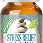 Stress Relief Blend 100% Pure, Best Therapeutic Grade Essential Oil – 10ml – Bergamot, Patchouli, Blood Orange, Ylang Ylang, Grapefruit