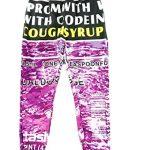 Generic Mens Fashion Print Codeine Sportwear Pants Sweatpants Black L [Apparel]