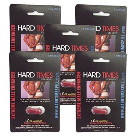 Hard Times for Men - Lot of Extreme Erection Pill for Men, Kit Male Enhancement - 5 Capsule