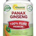 Pure Korean Panax Ginseng (1000mg Max Strength) – 90 Capsules Root Extract Complex (Red & White), High Potency Ginsenosides in Seeds, Asian Powder Supplement, Tablet Pills for Sex & Mental Health