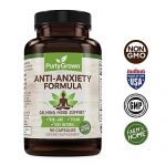 Anxiety and Stress Relief Herbal Supplement: Natural Serotonin Booster For Relaxation, Mood and Focus – Includes Ashwagandha, Biotin, Vitamin B12, Niacin, Magnesium – Promotes Calm and Improved Energy