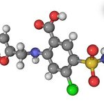 Canvas On Demand Wall Peel Wall Art Print entitled Furosemide diuretic drug molecule