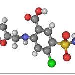 Great BIG Canvas Poster Print entitled Furosemide diuretic drug molecule