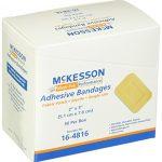 McKesson 16-4816 Medi-Pak Adhesive Strip, Performance Fabric, 2″ x 3″ (Pack of 50)