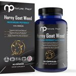 Horny Goat Weed, All Natural Male Enhancement Pills, Performance and Libido Booster for Men and Women, 1000mg Epimedium with Panax Ginseng, Made in USA