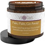 "Full Body Arthritis, Joint Pain & Sore Muscle Relief Aromatherapy Dead Sea Bath Salts – ""Pain Pain Go Away"" by Vi-Tae 16oz"