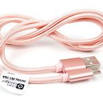 Rose Gold Micro USB Data Sync Cable for the Blackview: A5, A8 Max, Acme, Alife P1 Pro, Arrow, Breeze, BV2000, BC6000, DM550, E7, Heatwave, Omega, R7, Ultram C3 & Zeta – by DURAGADGET