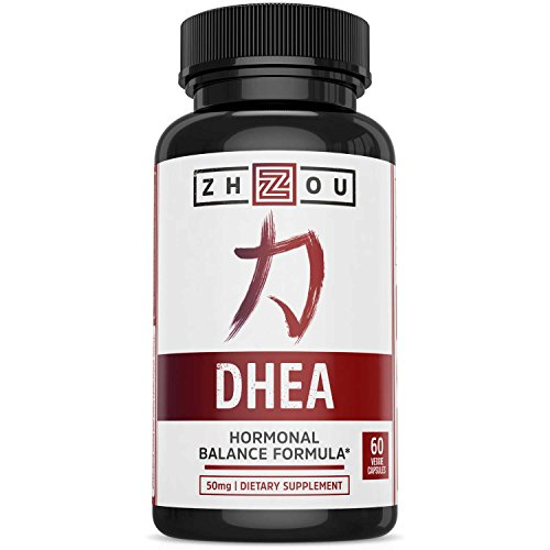 DHEA 50 mg Supplement - Supports Hormonal Balance For Women & Men - Promotes Healthy Aging - Non-GMO Vegetarian Formula - USA Manufactured - 60 Veggie Capsules