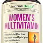 Women's Daily Multivitamin Supplement – Biotin, Vitamins A B C D E, Calcium, Zinc, Lutein, Magnesium, Manganese, Folic Acid & More. Natural, Non-Gmo, Gluten Free & Dairy Free Multivitamins for Women