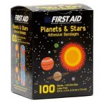 First Aid Children's Adhesive Bandages: Planets and Stars 100 Per Box