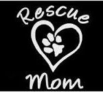 Rescue Mom Adopt a Pet Vinyl Decal Sticker|WHITE|Cars Trucks Vans SUV Laptops Tool Box Wall Art|5″ X 5″|CGS264