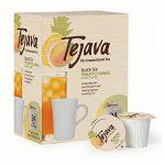 Tejava Black Tea Pods, Unsweetened Black Tea with Pineapple-Mango Flavor, 24 Count