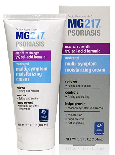 MG217 Psoriasis Medicated 3% Salicylic Acid Formula Multi-Symptom Cream, 3.5 Fluid Ounce
