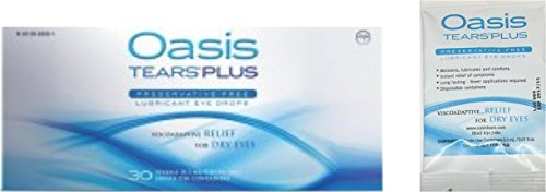 35 Vials Oasis TEARS PLUS Preservative-Free Lubricant Eye Drops (1 box of 30 vials and one 5 vial packet)