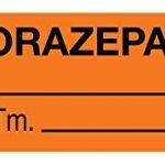 United Ad Label Anesthesia Label, Lorazepam mg/mL, 1-1/2″ x 1/2″, Orange – 610 Label Per Roll