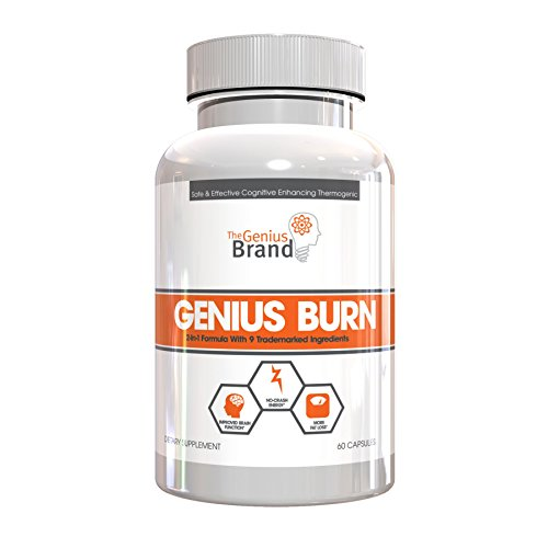 GENIUS BURN – Thermogenic Weight Loss & Nootropic Focus Supplement – Natural Metabolism & Energy Booster, Fat Burner for Thyroid Support and Appetite Suppressant w/ Gymnema Sylvestre, 60 Veggie Pills