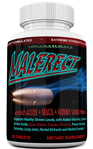 MALERECT Male Natural Enlargement Pills, Testosterone Booster – Add Length, Girth & Stiffness. Male Pills. Gain More Energy and Performance.