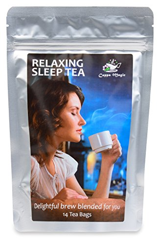 INSOMNIA, STRESS AND ANXIETY RELIEF - RELAX WITH THE BEST HERBAL TEA SLEEP AID - 14 DAY
