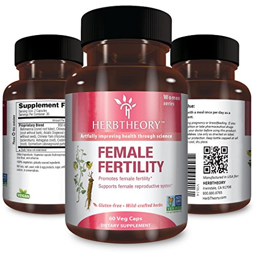 Herbtheory Female Fertility Supplement For Women To Assist With The Reproductive System (950mg, 60 Capsules)