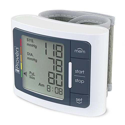 Digital Automatic Blood Pressure Monitor Wrist - Large Screen Display - Clinically Accurate & Fast Reading - FDA Approved - BPM-337 by iProvèn (BPM Wrist)